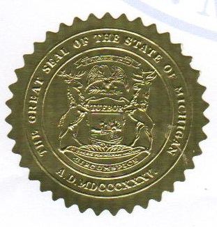 What does a Michigan apostille look like?